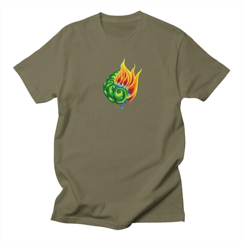 foxFire(fire&leaf3) Men's Regular T-Shirt by Krakens Lair's Artist Shop