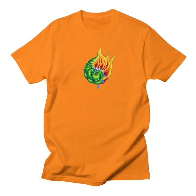 foxFire(fire&leaf3) Women's Regular Unisex T-Shirt by Krakens Lair's Artist Shop
