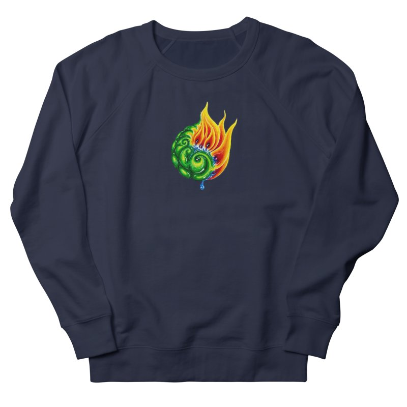 foxFire(fire&leaf3) Women's French Terry Sweatshirt by Krakens Lair's Artist Shop