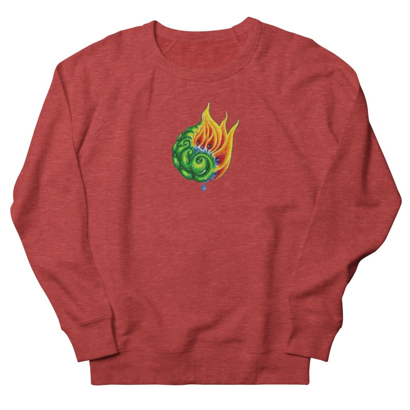 foxFire(fire&leaf3) Men's French Terry Sweatshirt by Krakens Lair's Artist Shop
