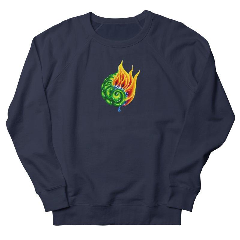 foxFire(fire&leaf3) Men's French Terry Sweatshirt by Krakens Lair's Artist Shop