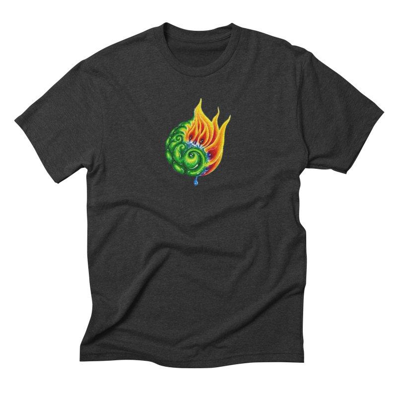 foxFire(fire&leaf3) Men's Triblend T-Shirt by Krakens Lair's Artist Shop