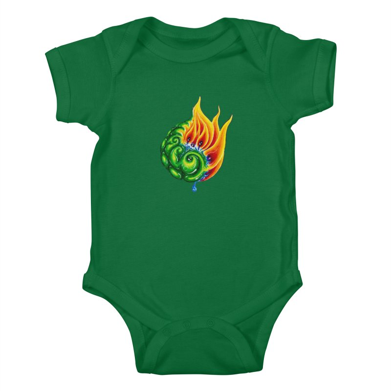 foxFire(fire&leaf3) Kids Baby Bodysuit by Krakens Lair's Artist Shop