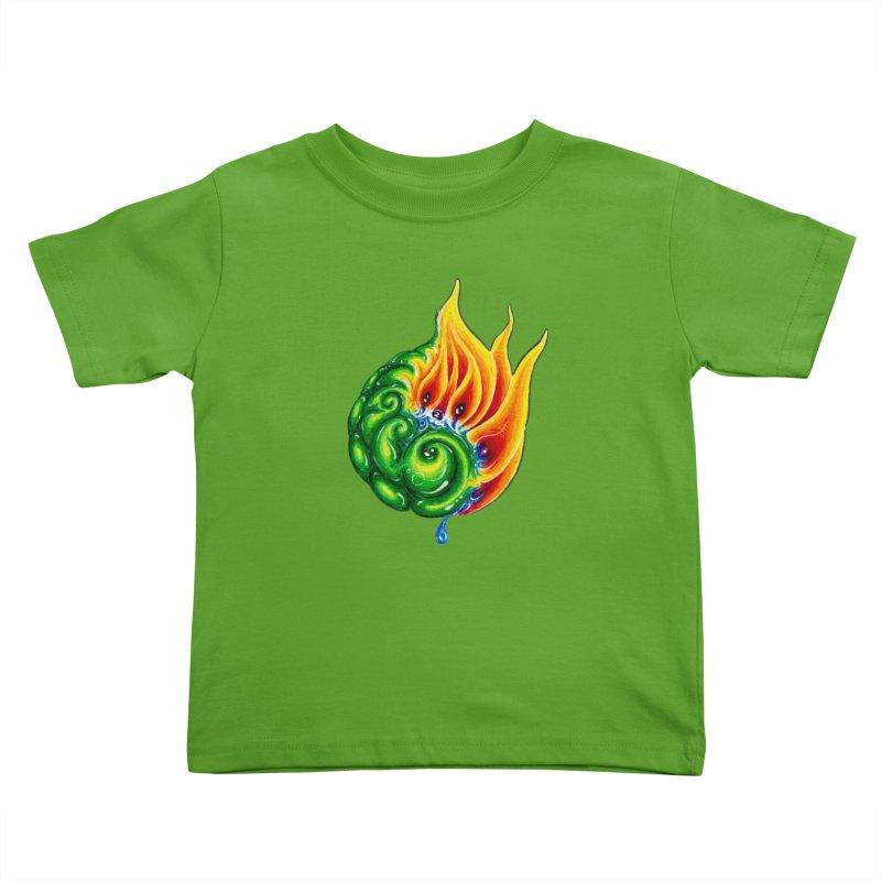 foxFire(fire&leaf3) Kids Toddler T-Shirt by Krakens Lair's Artist Shop