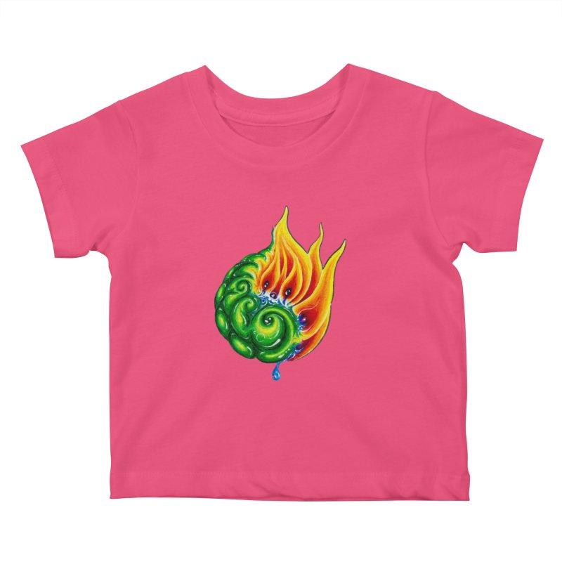 foxFire(fire&leaf3) Kids Baby T-Shirt by Krakens Lair's Artist Shop