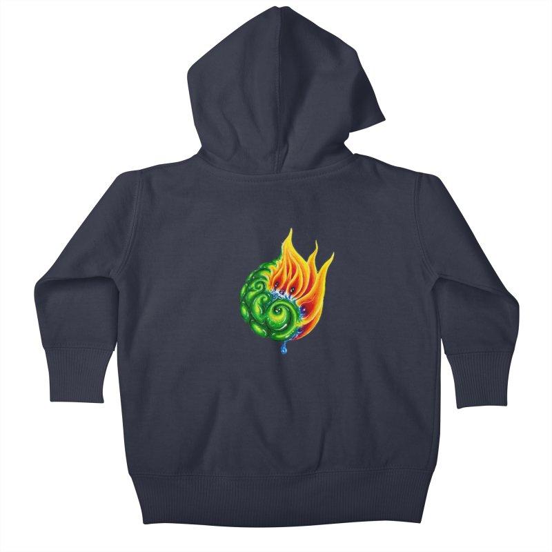 foxFire(fire&leaf3) Kids Baby Zip-Up Hoody by Krakens Lair's Artist Shop