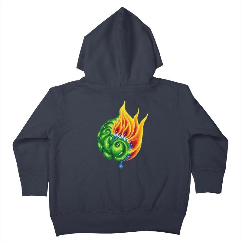foxFire(fire&leaf3) Kids Toddler Zip-Up Hoody by Krakens Lair's Artist Shop
