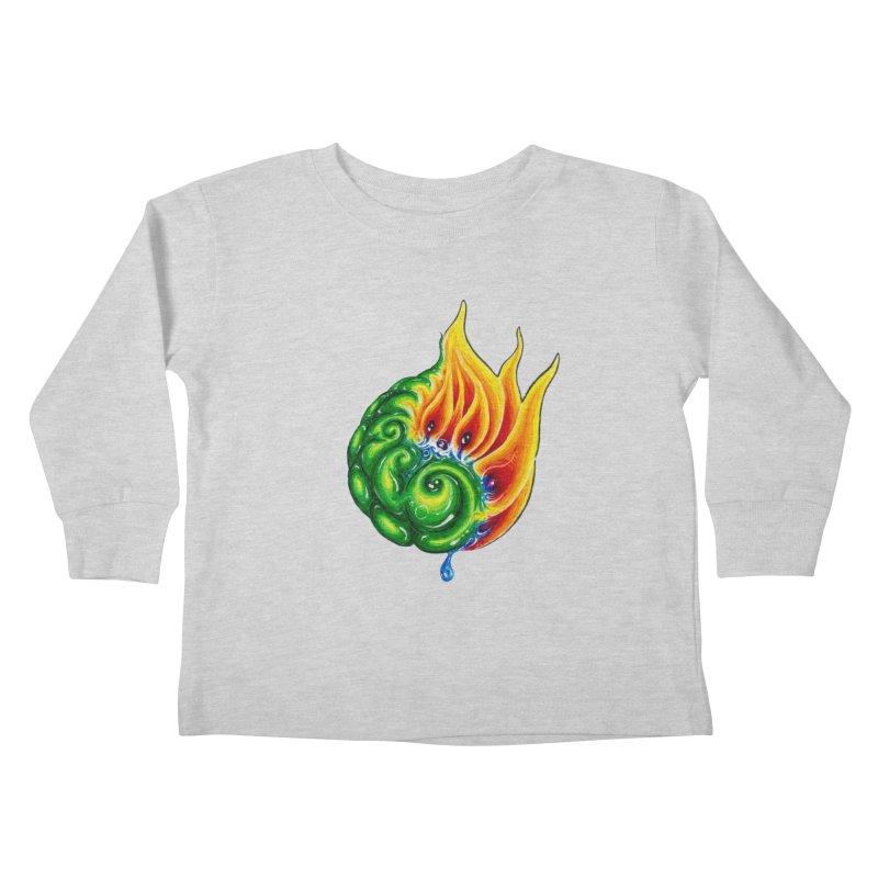 foxFire(fire&leaf3) Kids Toddler Longsleeve T-Shirt by Krakens Lair's Artist Shop