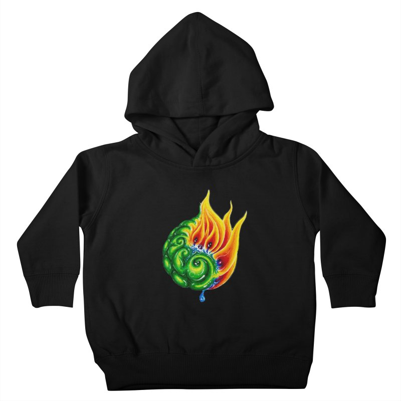 foxFire(fire&leaf3) Kids Toddler Pullover Hoody by Krakens Lair's Artist Shop