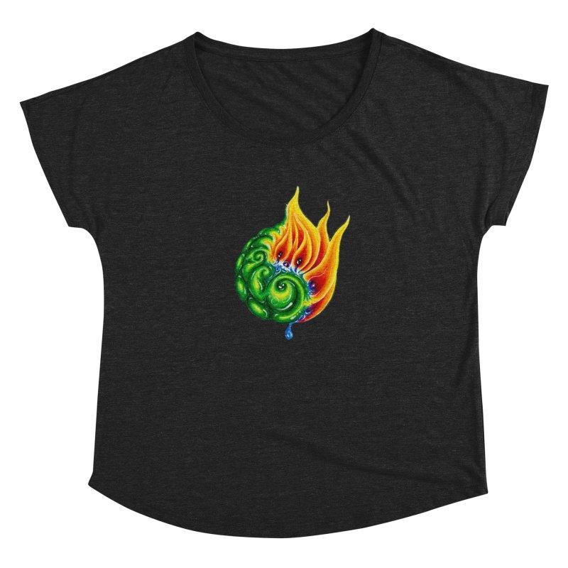 foxFire(fire&leaf3) Women's Dolman Scoop Neck by Krakens Lair's Artist Shop