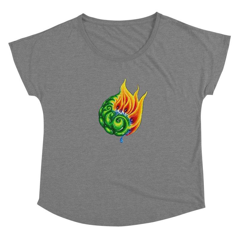 foxFire(fire&leaf3) Women's Scoop Neck by Krakens Lair's Artist Shop