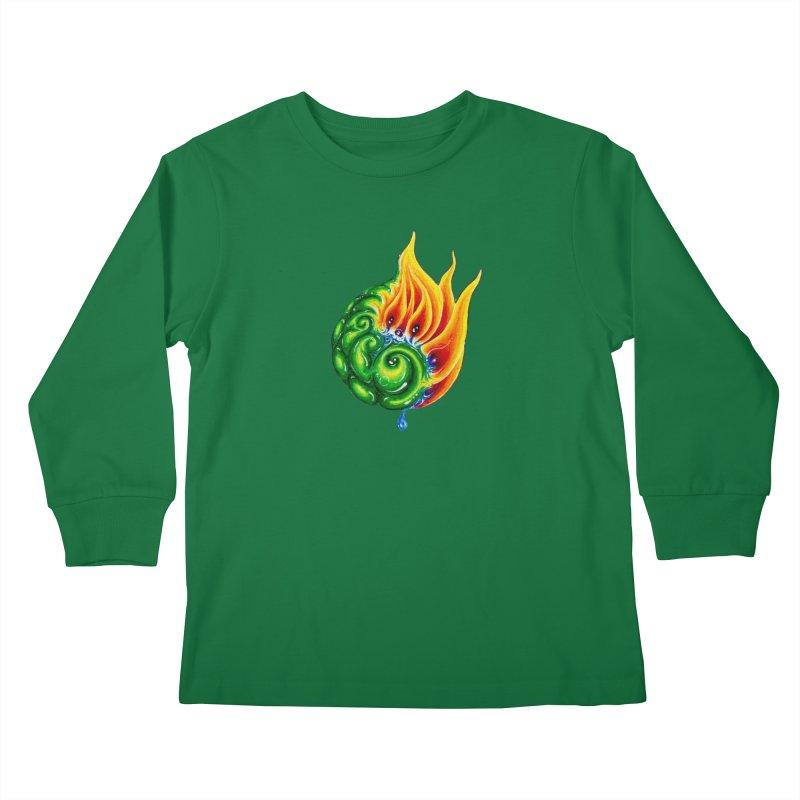 foxFire(fire&leaf3) Kids Longsleeve T-Shirt by Krakens Lair's Artist Shop