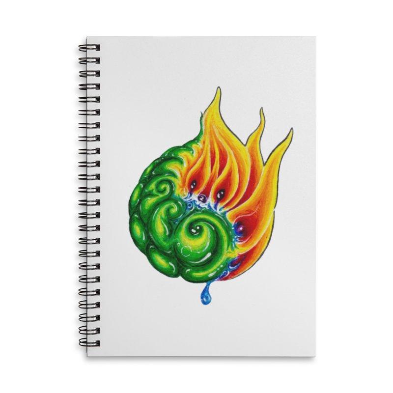 foxFire(fire&leaf3) Accessories Lined Spiral Notebook by Krakens Lair's Artist Shop