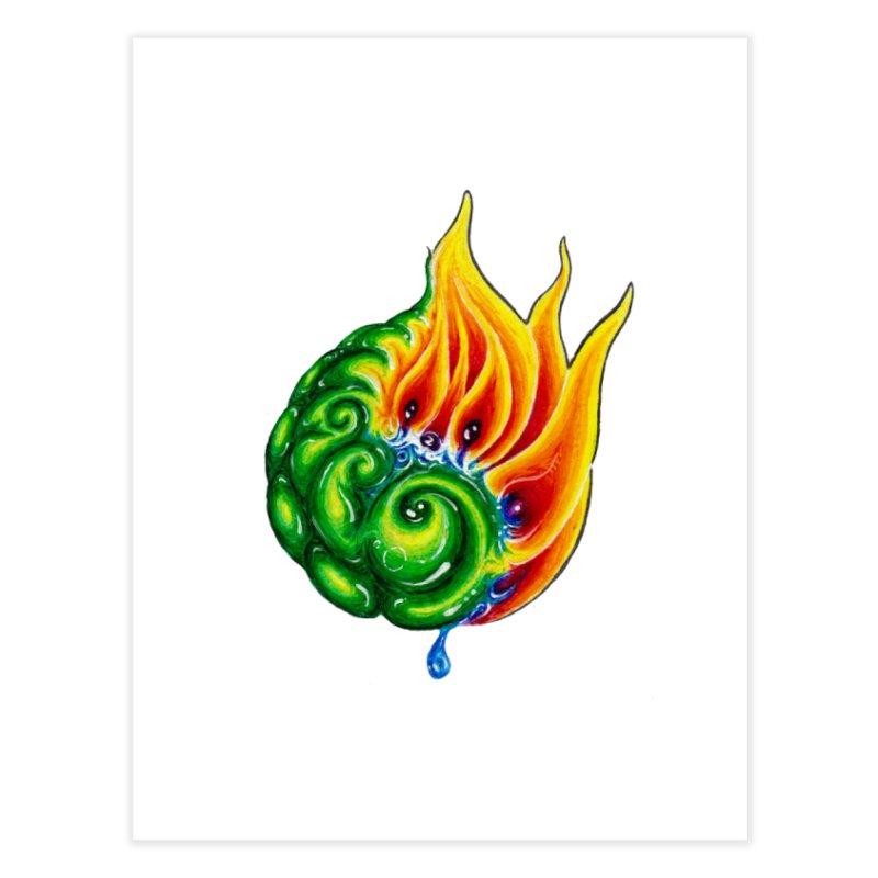 foxFire(fire&leaf3) Home Fine Art Print by Krakens Lair's Artist Shop