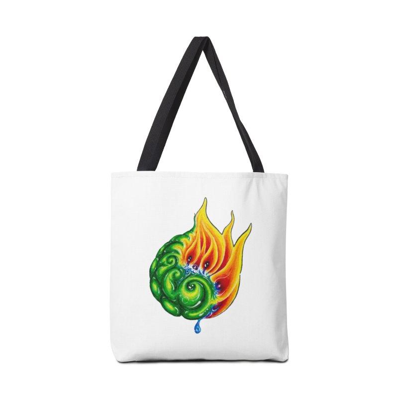 foxFire(fire&leaf3) Accessories Tote Bag Bag by Krakens Lair's Artist Shop
