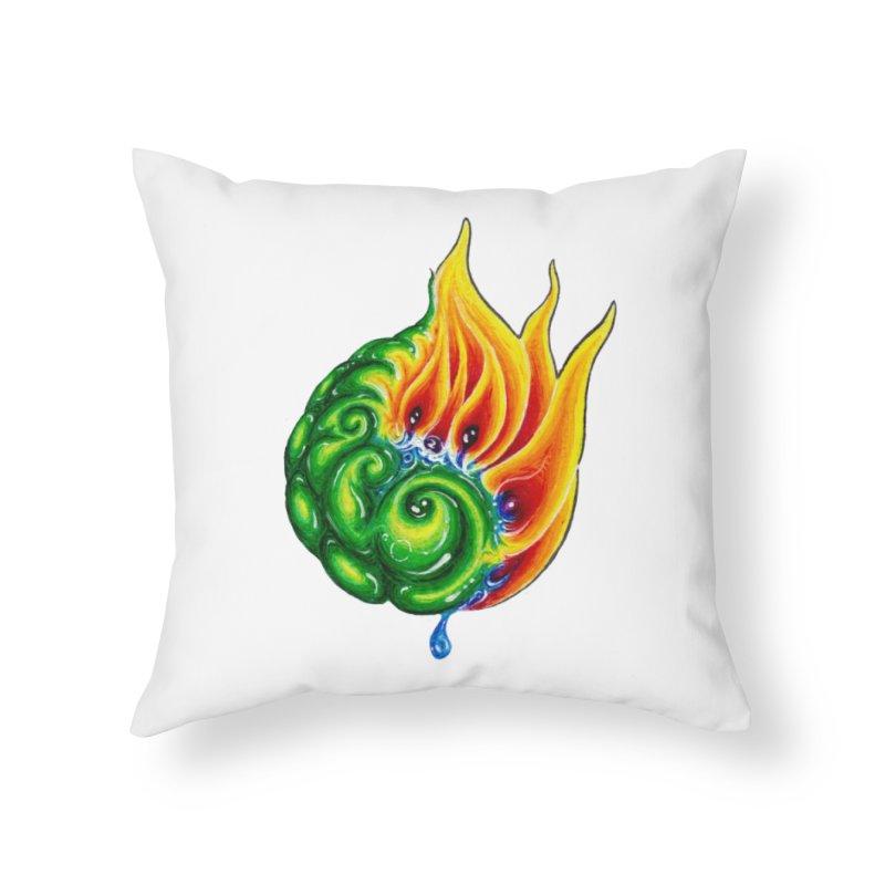 foxFire(fire&leaf3) Home Throw Pillow by Krakens Lair's Artist Shop