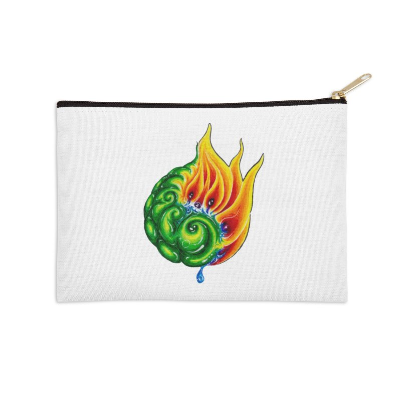 foxFire(fire&leaf3) Accessories Zip Pouch by Krakens Lair's Artist Shop