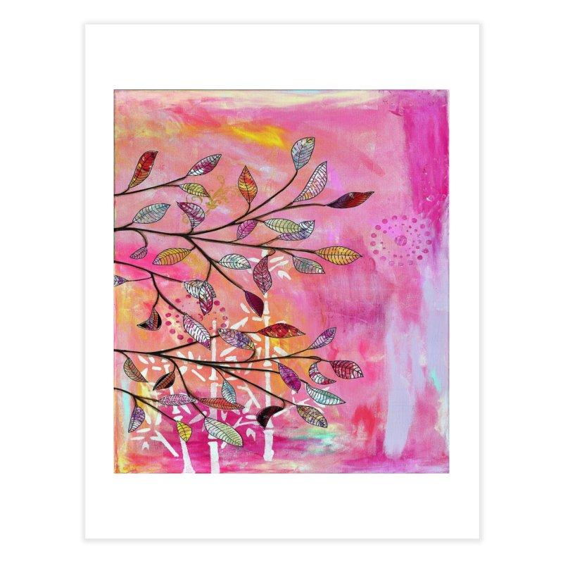 Pink branch Home Fine Art Print by krasarts' Artist Shop Threadless