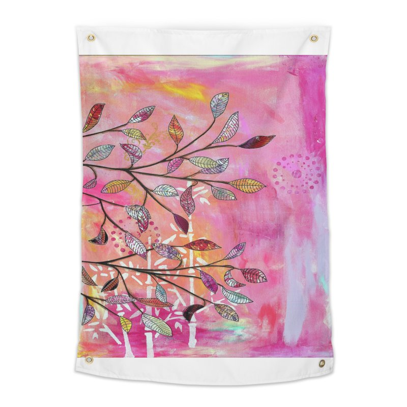 Pink branch Home Tapestry by krasarts' Artist Shop Threadless