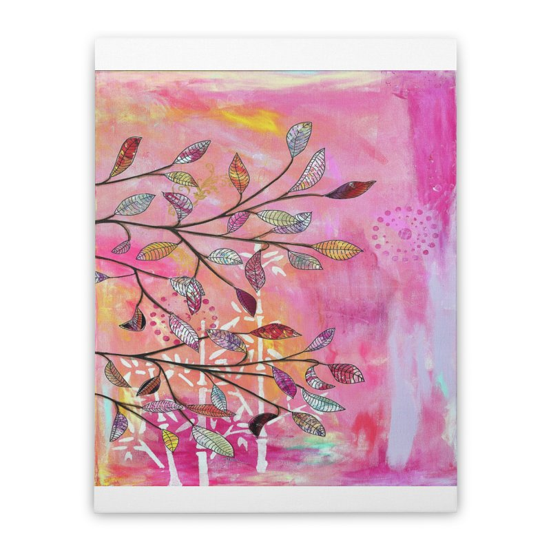 Pink branch Home Stretched Canvas by krasarts' Artist Shop Threadless