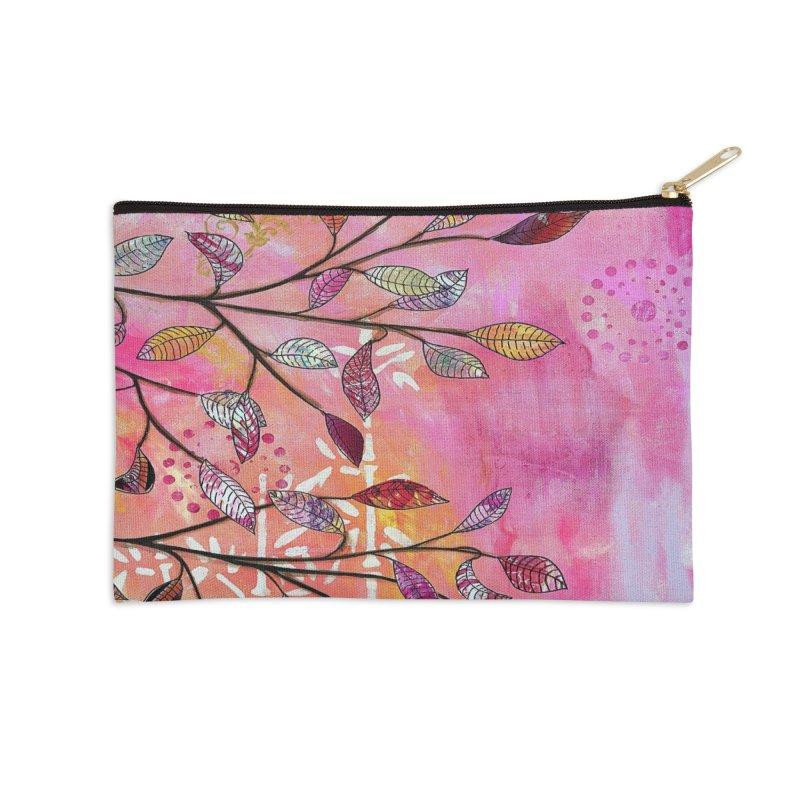 Pink branch Accessories Zip Pouch by krasarts' Artist Shop Threadless