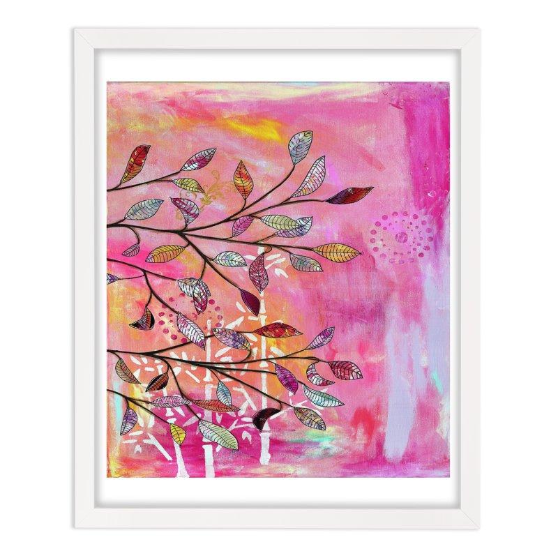 Pink branch Home Framed Fine Art Print by krasarts' Artist Shop Threadless