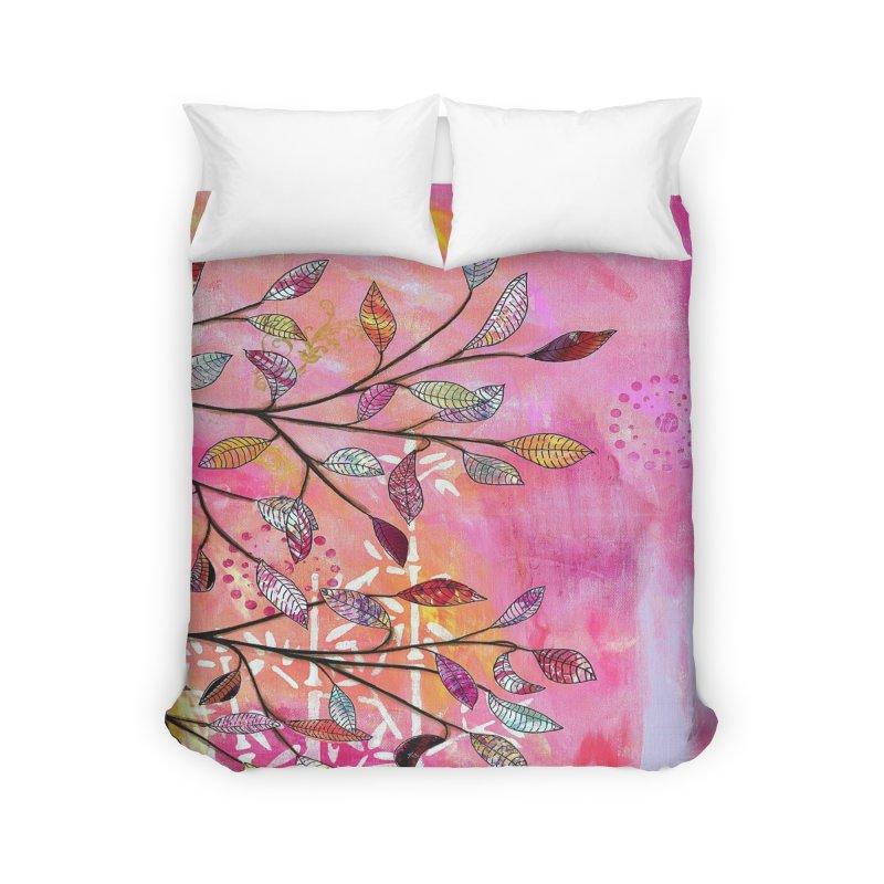 Pink branch Home Duvet by krasarts' Artist Shop Threadless