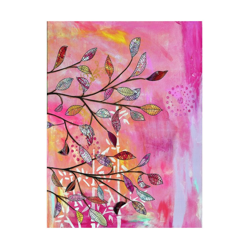 Pink branch Home Fine Art Print by krasarts' Artist Shop Threadless