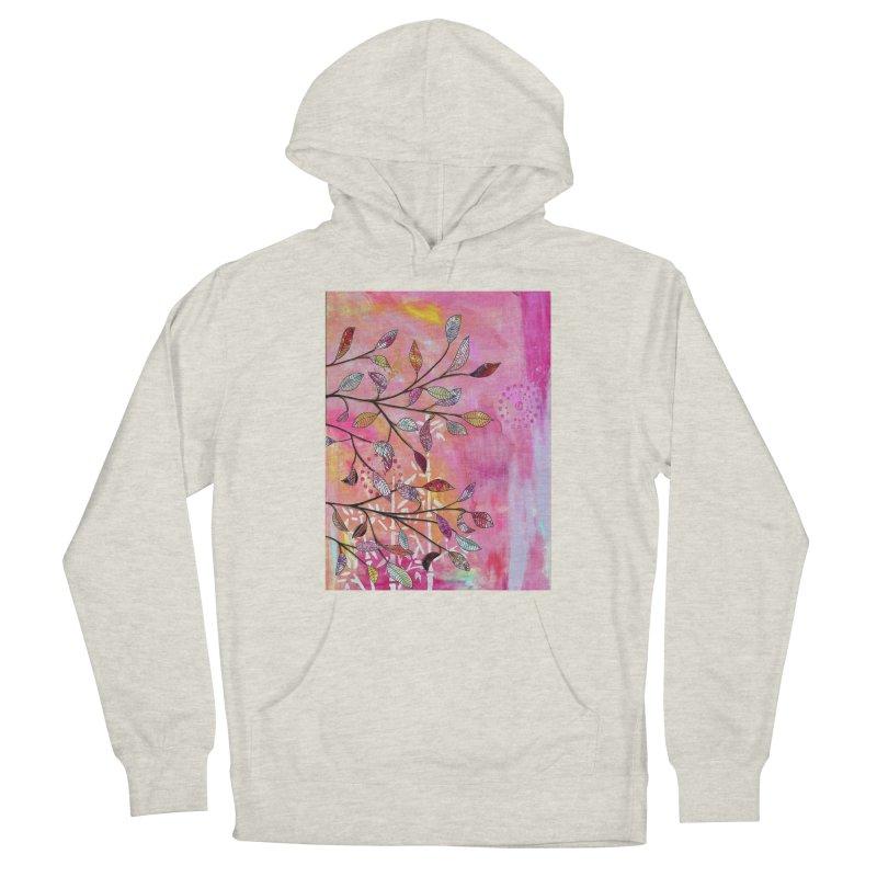 Pink branch Men's Pullover Hoody by krasarts' Artist Shop Threadless