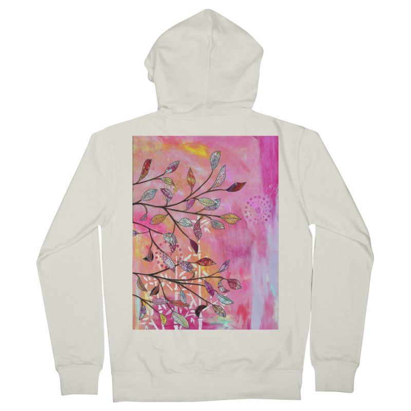 Pink branch Women's Zip-Up Hoody by krasarts' Artist Shop Threadless