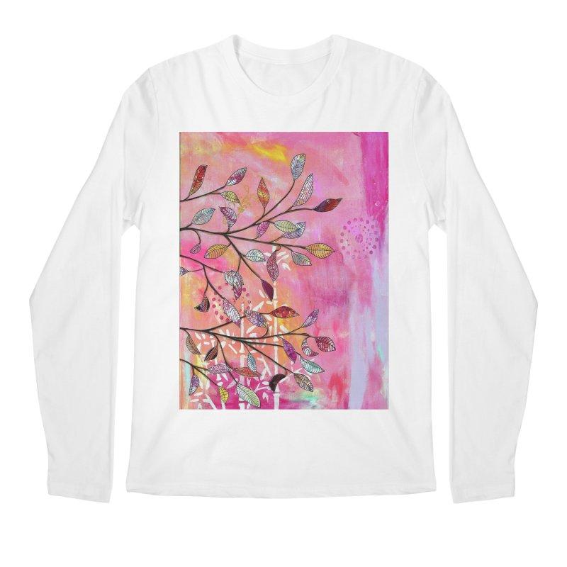 Pink branch Men's Longsleeve T-Shirt by krasarts' Artist Shop Threadless