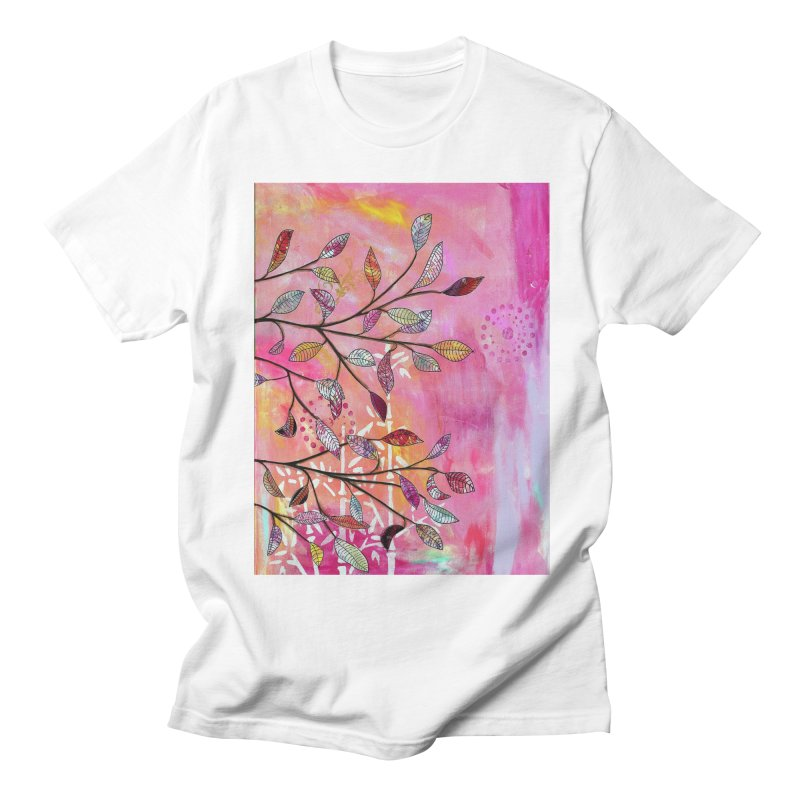 Pink branch Men's T-Shirt by krasarts' Artist Shop Threadless