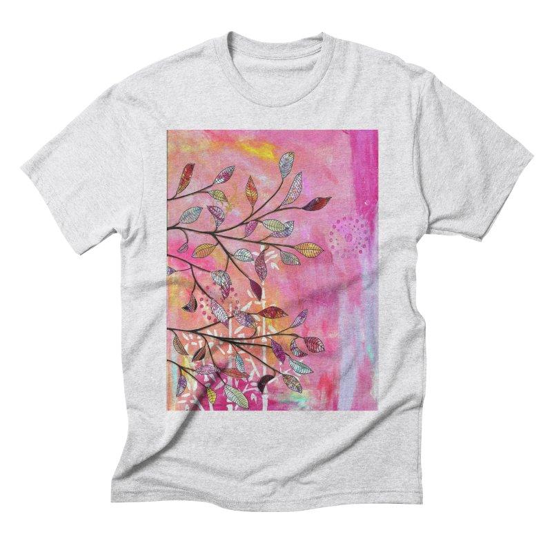 Pink branch Men's T-Shirt by krasarts' Artist Shop Threadless