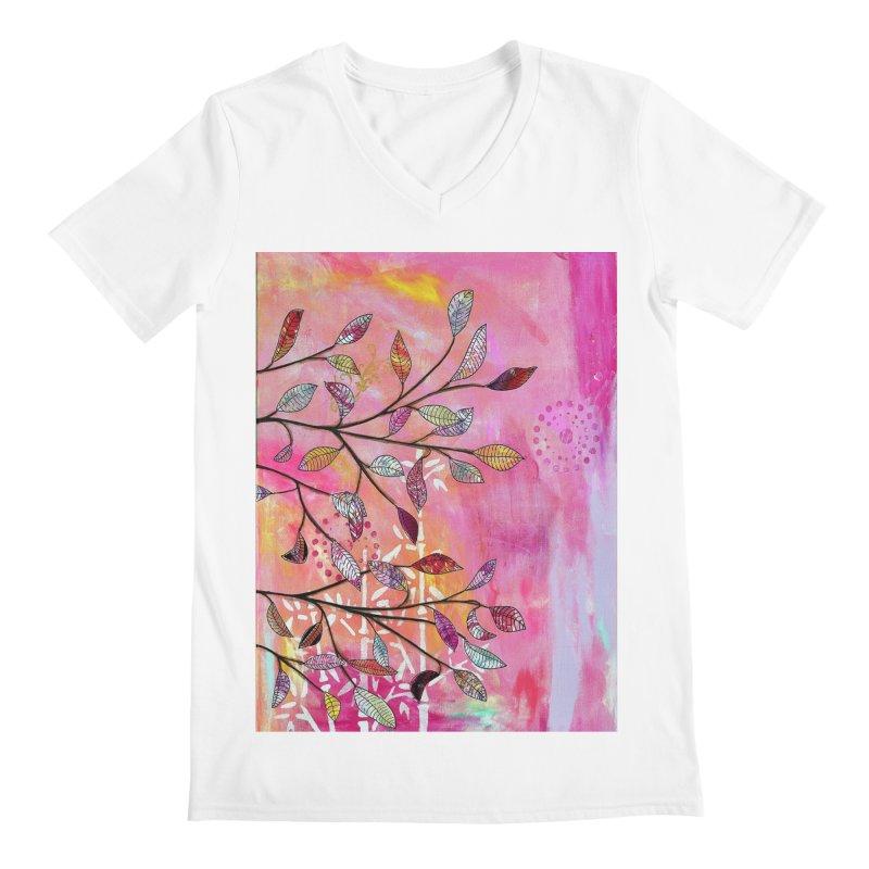 Pink branch Men's V-Neck by krasarts' Artist Shop Threadless