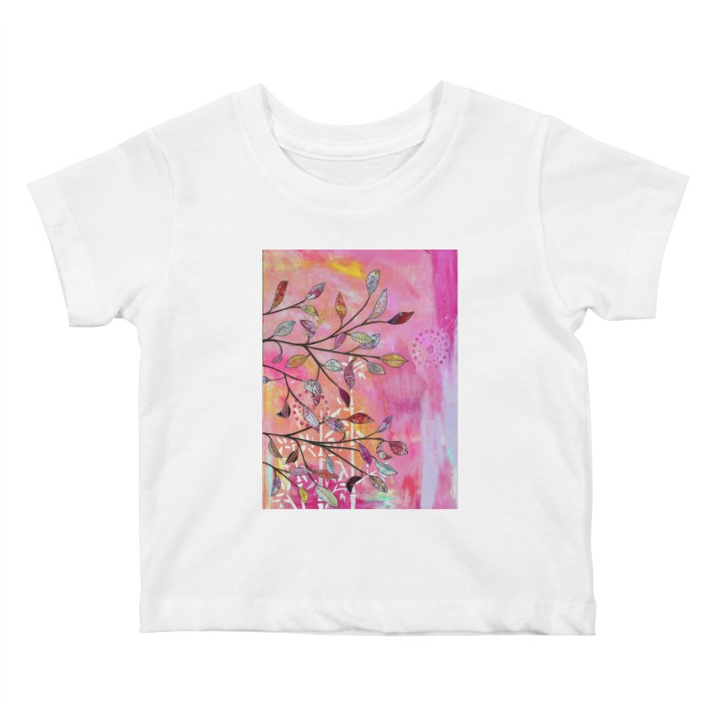 Pink branch Kids Baby T-Shirt by krasarts' Artist Shop Threadless