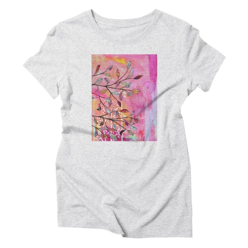Pink branch Women's T-Shirt by krasarts' Artist Shop Threadless