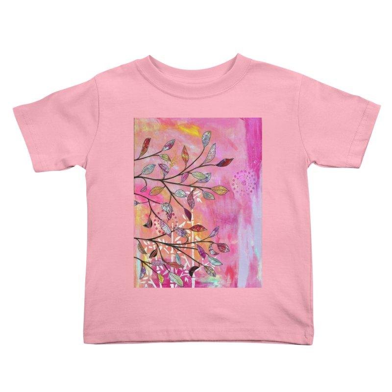 Pink branch Kids Toddler T-Shirt by krasarts' Artist Shop Threadless