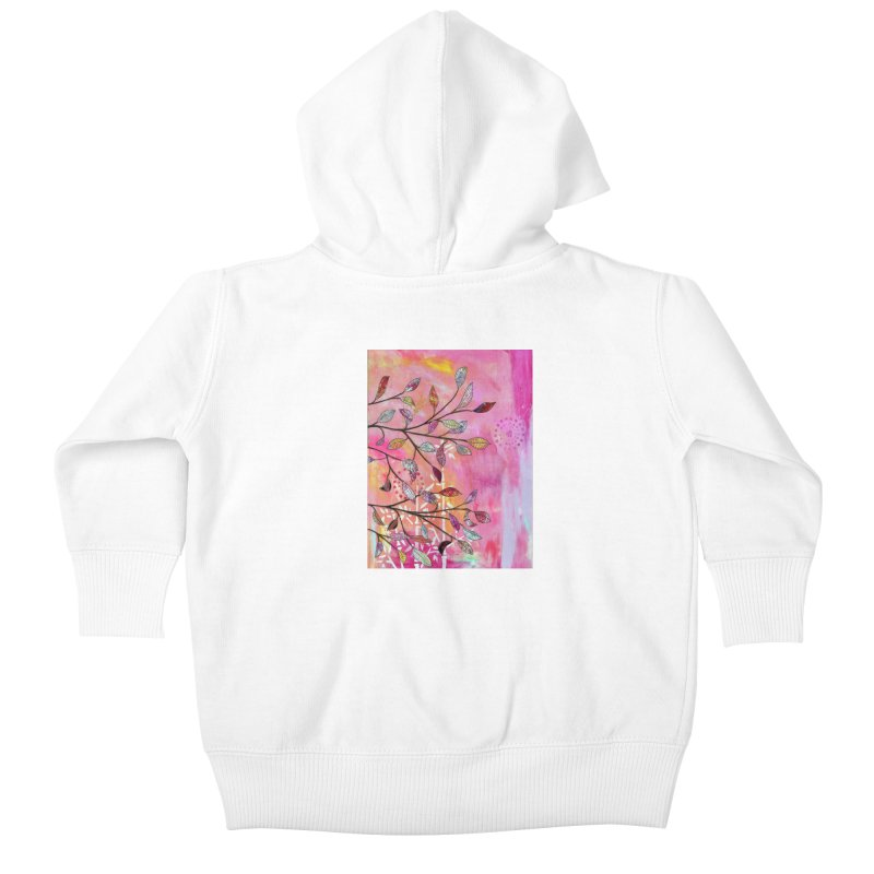 Pink branch Kids Baby Zip-Up Hoody by krasarts' Artist Shop Threadless