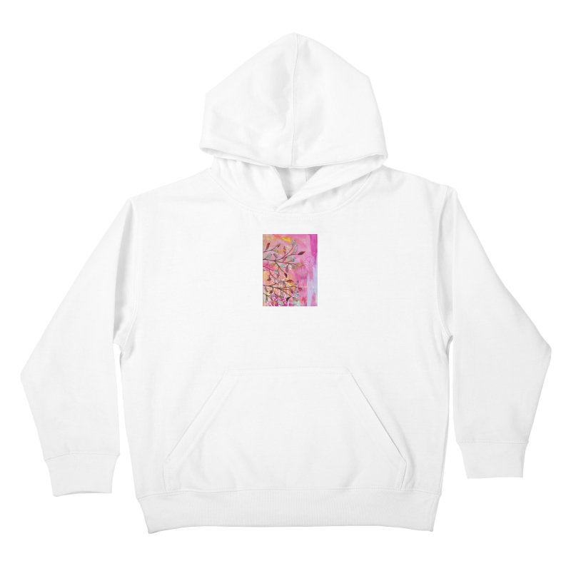 Pink branch Kids Pullover Hoody by krasarts' Artist Shop Threadless
