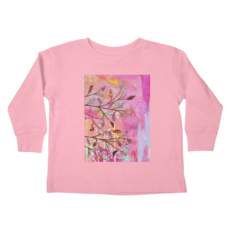 Pink branch Kids Toddler Longsleeve T-Shirt by krasarts' Artist Shop Threadless