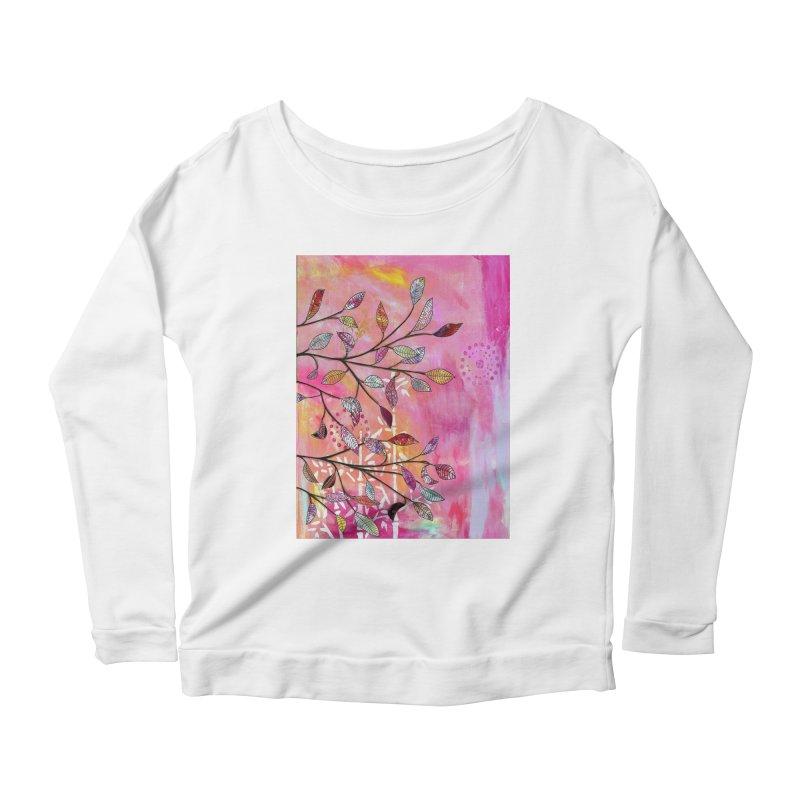 Pink branch Women's Longsleeve T-Shirt by krasarts' Artist Shop Threadless