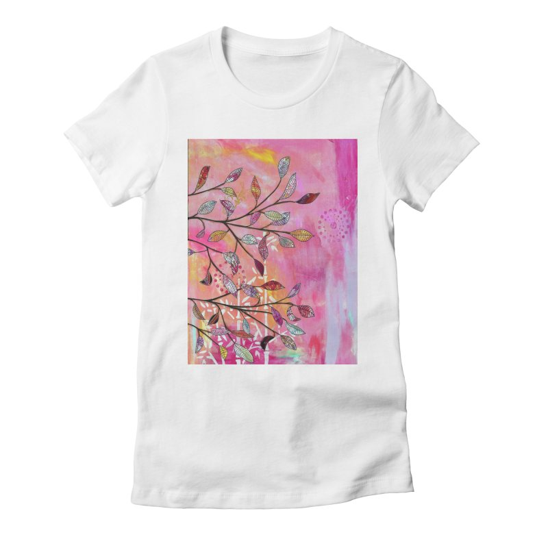 Pink branch Women's T-Shirt by krasarts' Artist Shop Threadless
