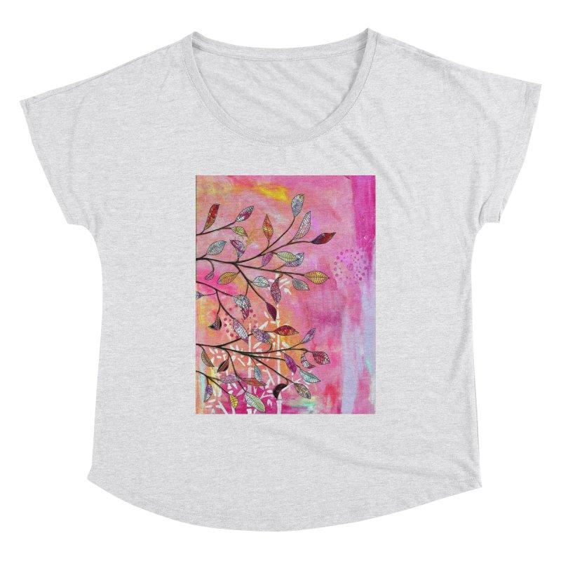 Pink branch Women's Scoop Neck by krasarts' Artist Shop Threadless