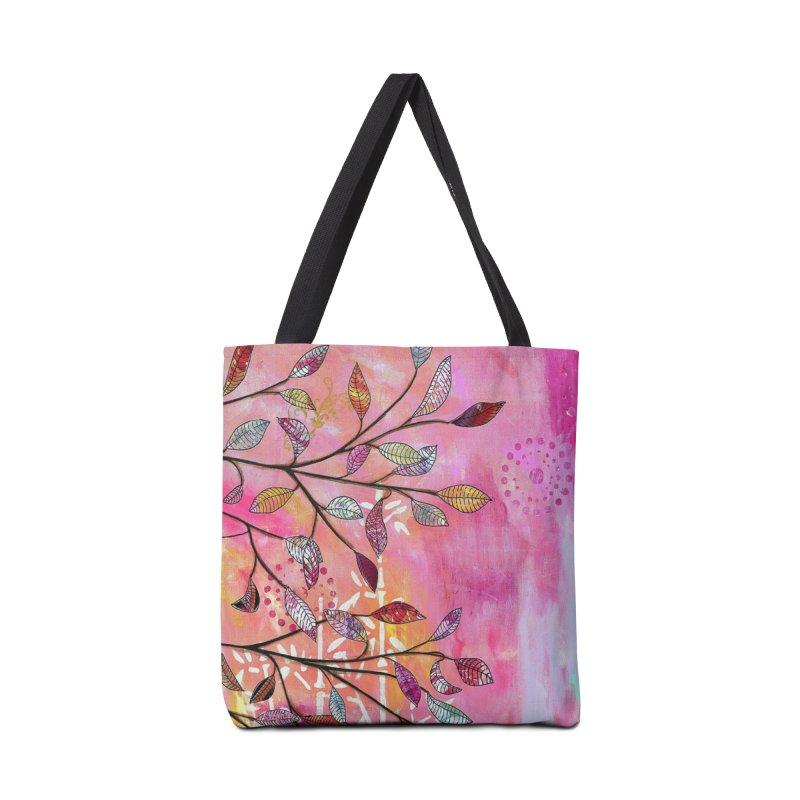Pink branch Accessories Bag by krasarts' Artist Shop Threadless