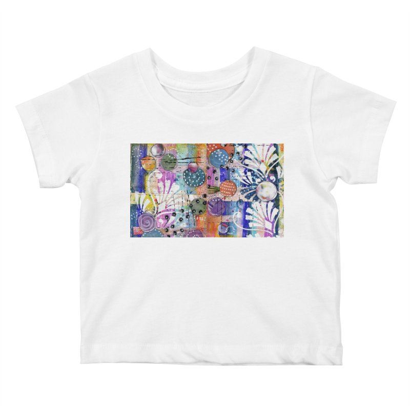 deep orange space Kids Baby T-Shirt by krasarts' Artist Shop Threadless