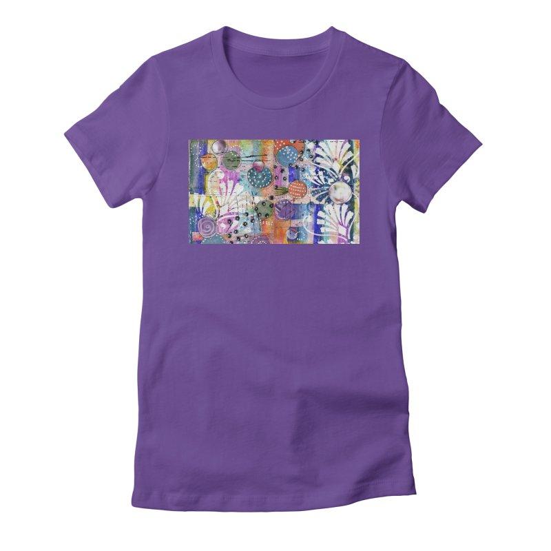 deep orange space Women's T-Shirt by krasarts' Artist Shop Threadless