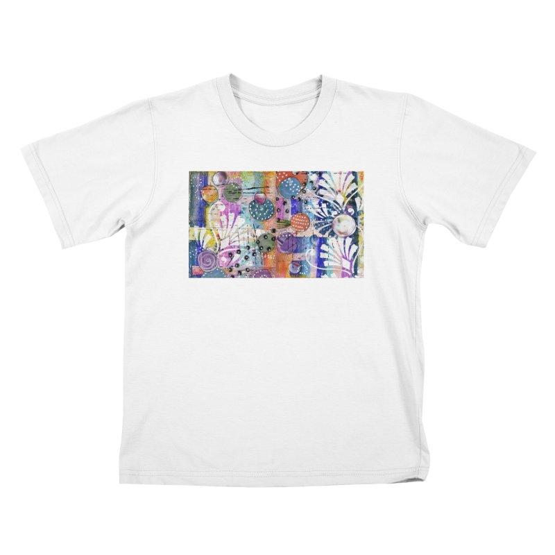 deep orange space Kids T-Shirt by krasarts' Artist Shop Threadless