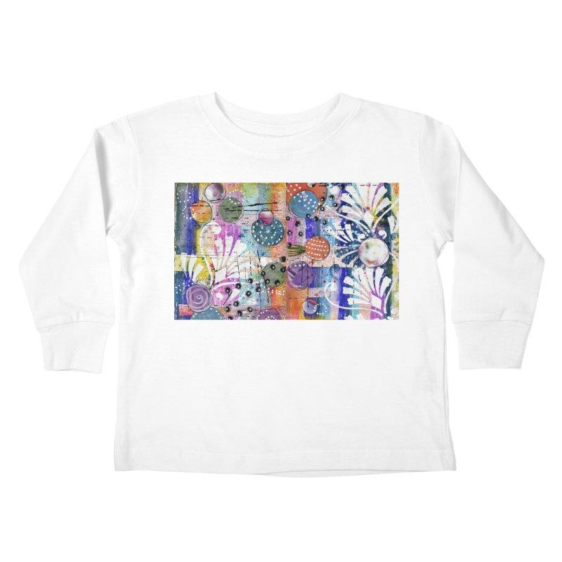 deep orange space Kids Toddler Longsleeve T-Shirt by krasarts' Artist Shop Threadless