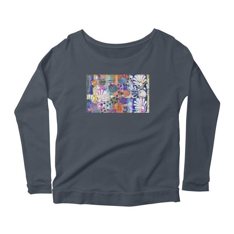 deep orange space Women's Longsleeve T-Shirt by krasarts' Artist Shop Threadless