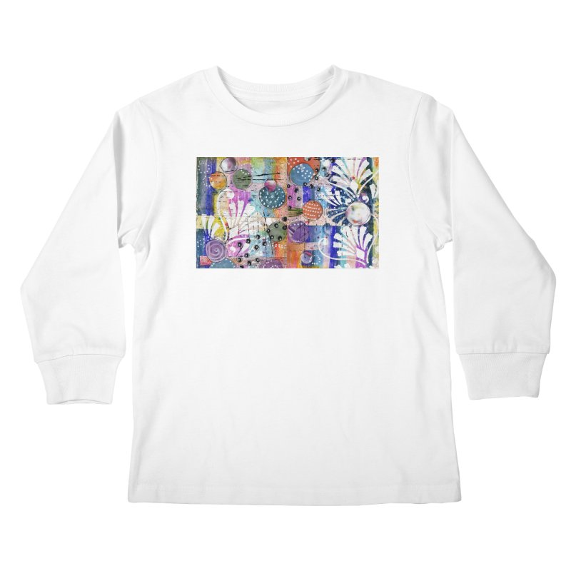 deep orange space Kids Longsleeve T-Shirt by krasarts' Artist Shop Threadless
